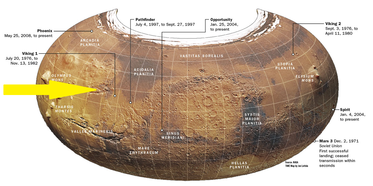 Location of Kasei Valles. Click to enlarge.
