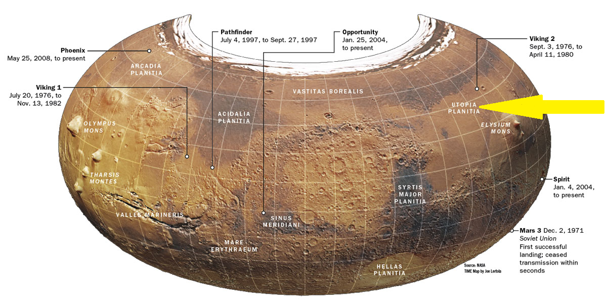 Location of Utopia Planitia. Click to enlarge.
