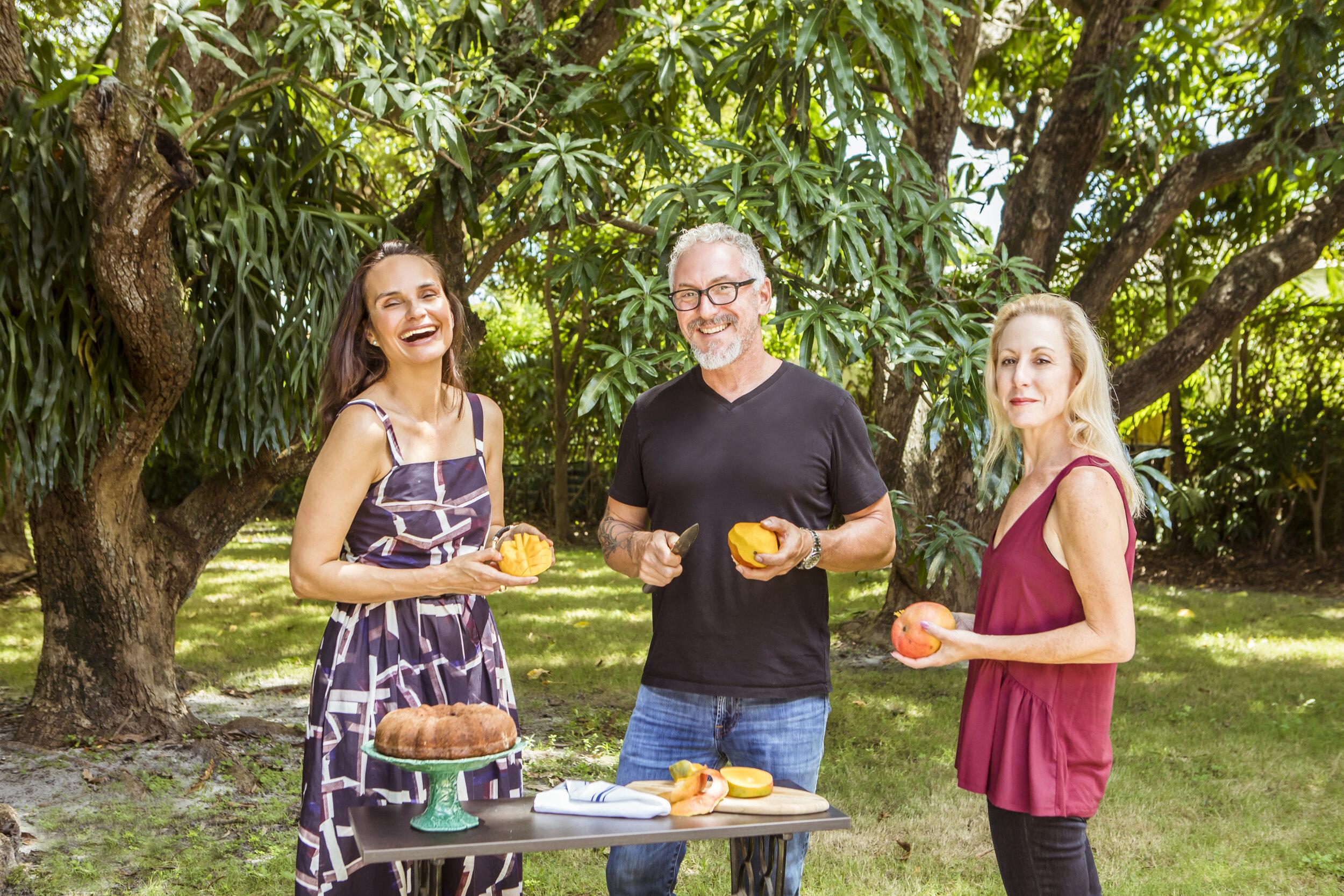 Geane Brito (Compass Agent), Chef Michael Schwartz, and Jen Karetnick (Homeowner)