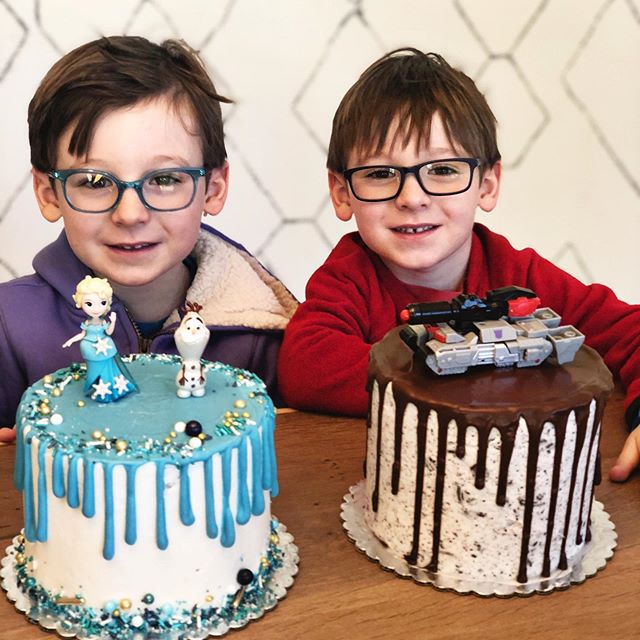 Happy Birthday to my little ones!  How has it been 5 years already?! #timeforhaircuts