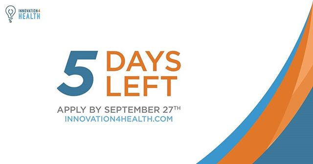 Countdown to the last day of Innovator Applications!  Final week to sign-up and check out what the Health Hack Competition is all about! Check out www.innovation4health.com