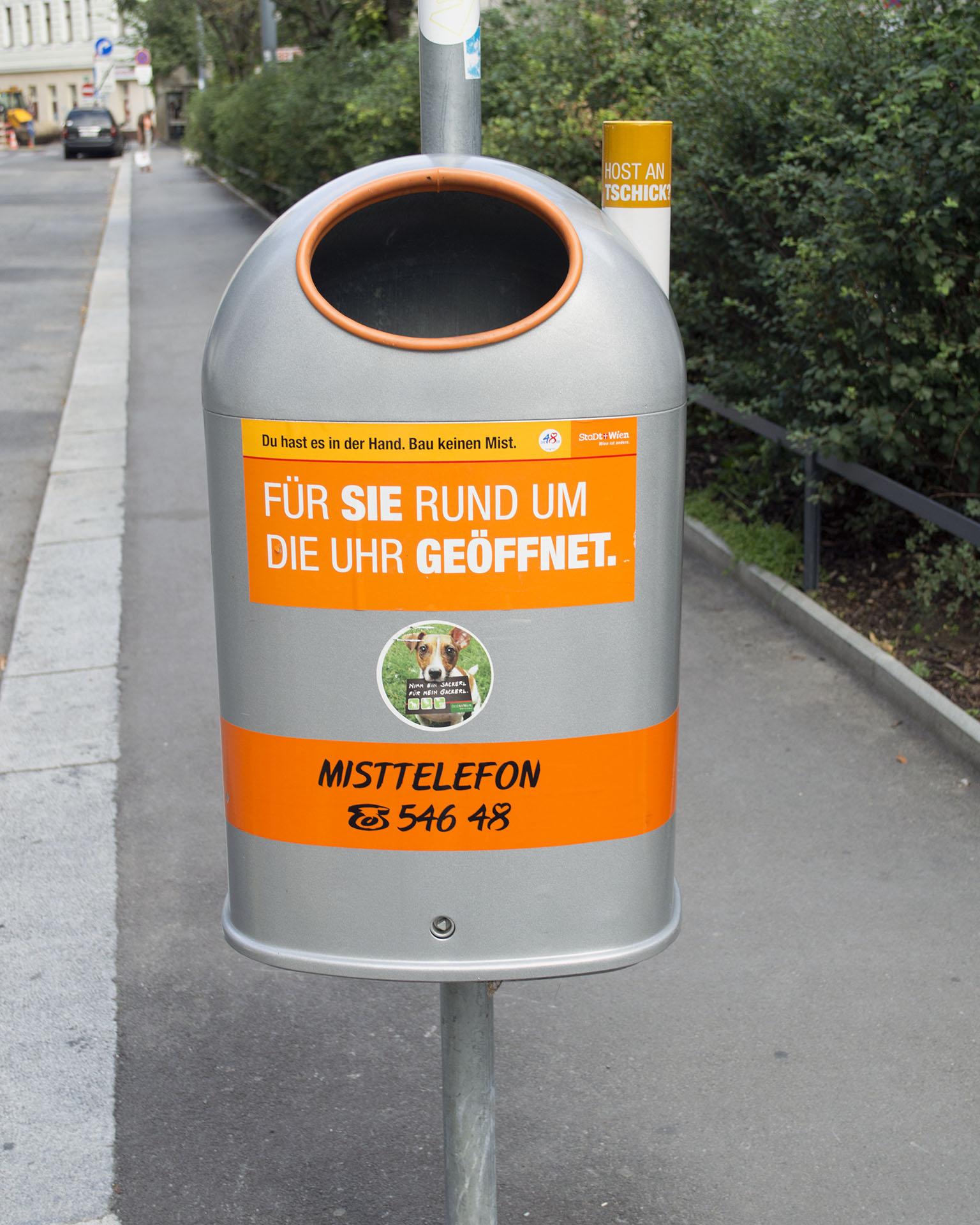 Trash Can, Vienna, Austria