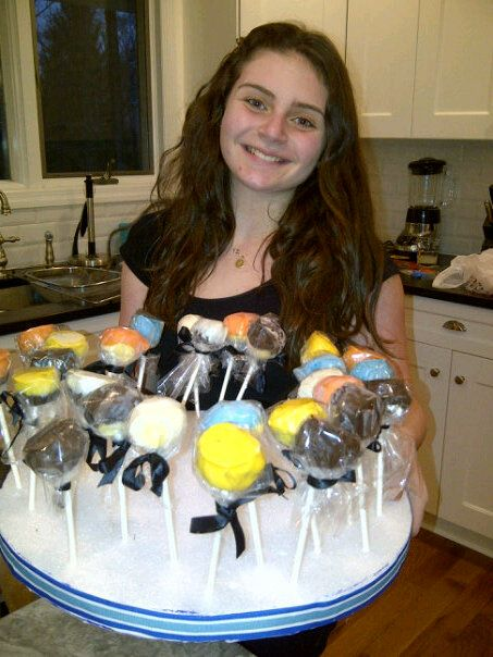 Gluten free cake-pops I made for my brother in 2013.