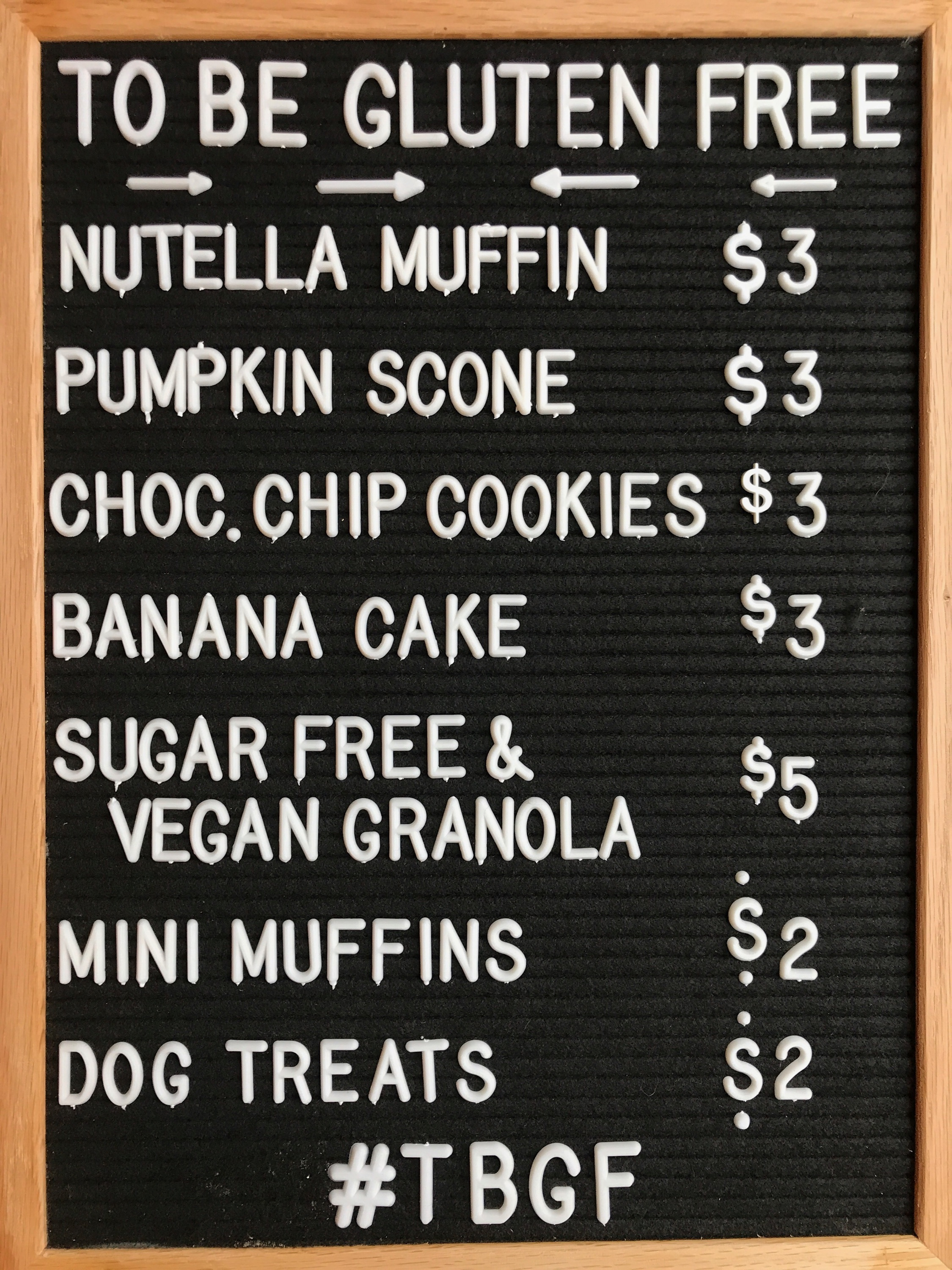 To Be Gluten Free's Mini Mart offerings.