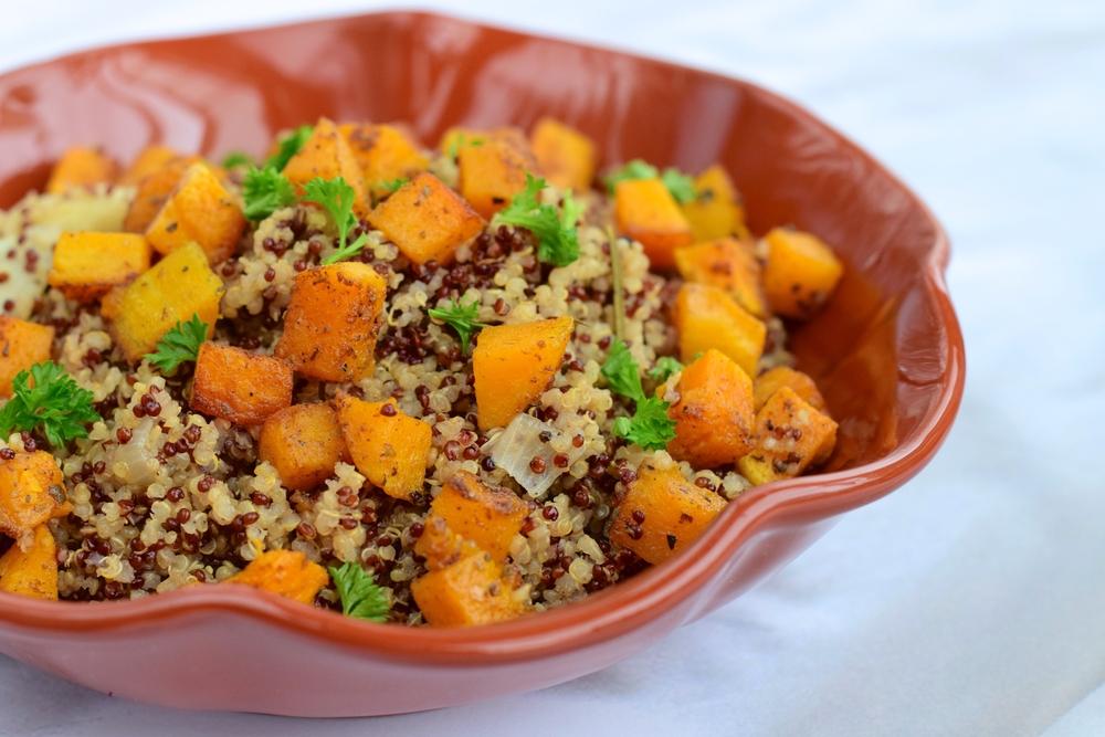 Maple Butternut Squash Quinoa Salad | The Tish Kitchen | Food & Lifestyle Blogger