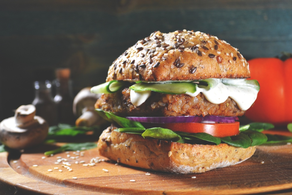 Veggie Burger with the Works | The Tish Kitchen | Food & Lifestyle Blogger