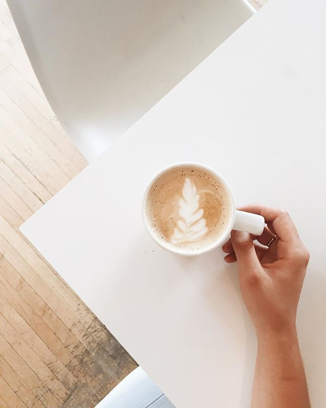 Hello Friday! ✨👍🏼🌿Headed for morning coffee with @anastasiaclarasee ☕️ || #coffee #latteart #latte #sogood #littlebrick #coffeeart #delicious #vscocam #vscogrid #vsco #yycblogger #reddeerblogger #yqfblogger #blogger #explorealberta #yycphotographer #centralalbertaphotographer #fridaymorning #capturemoments