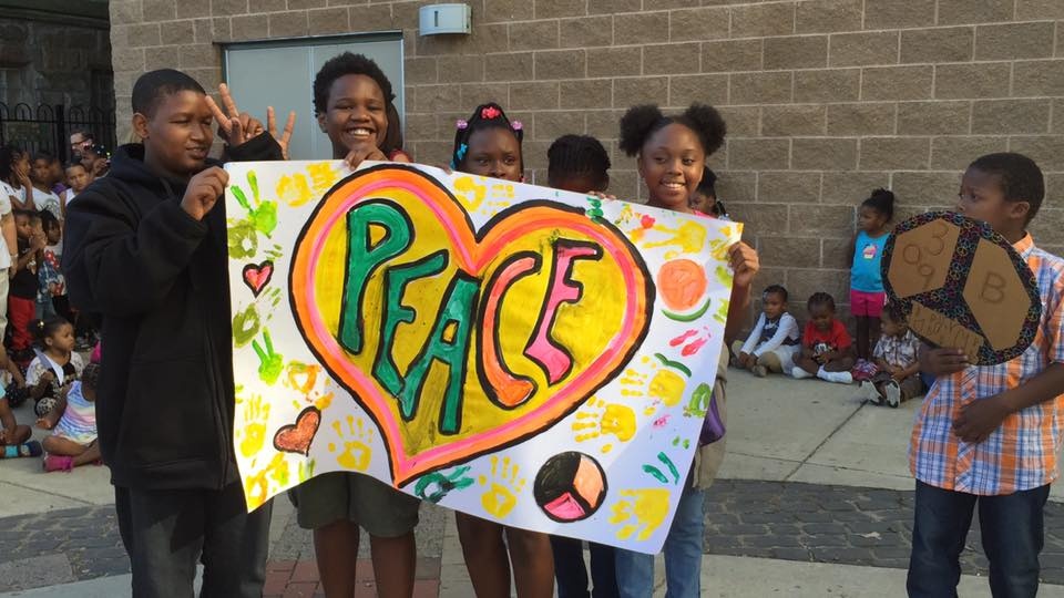Students at our annual peace march.
