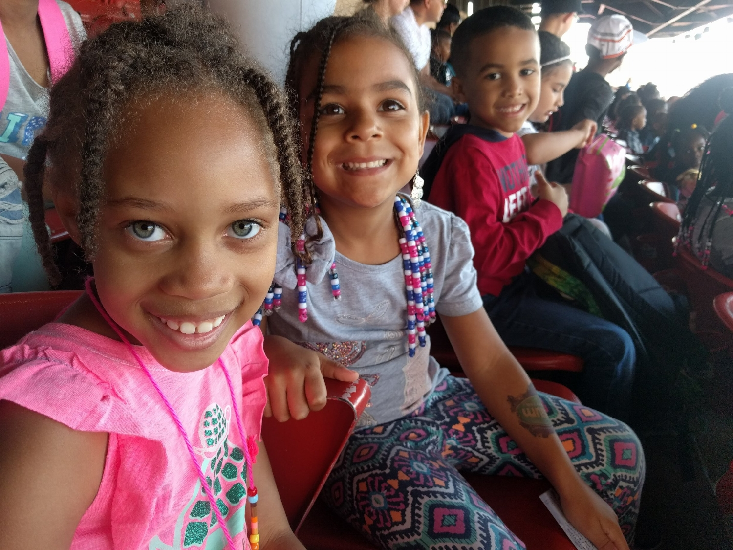 Students at the Bisons Game