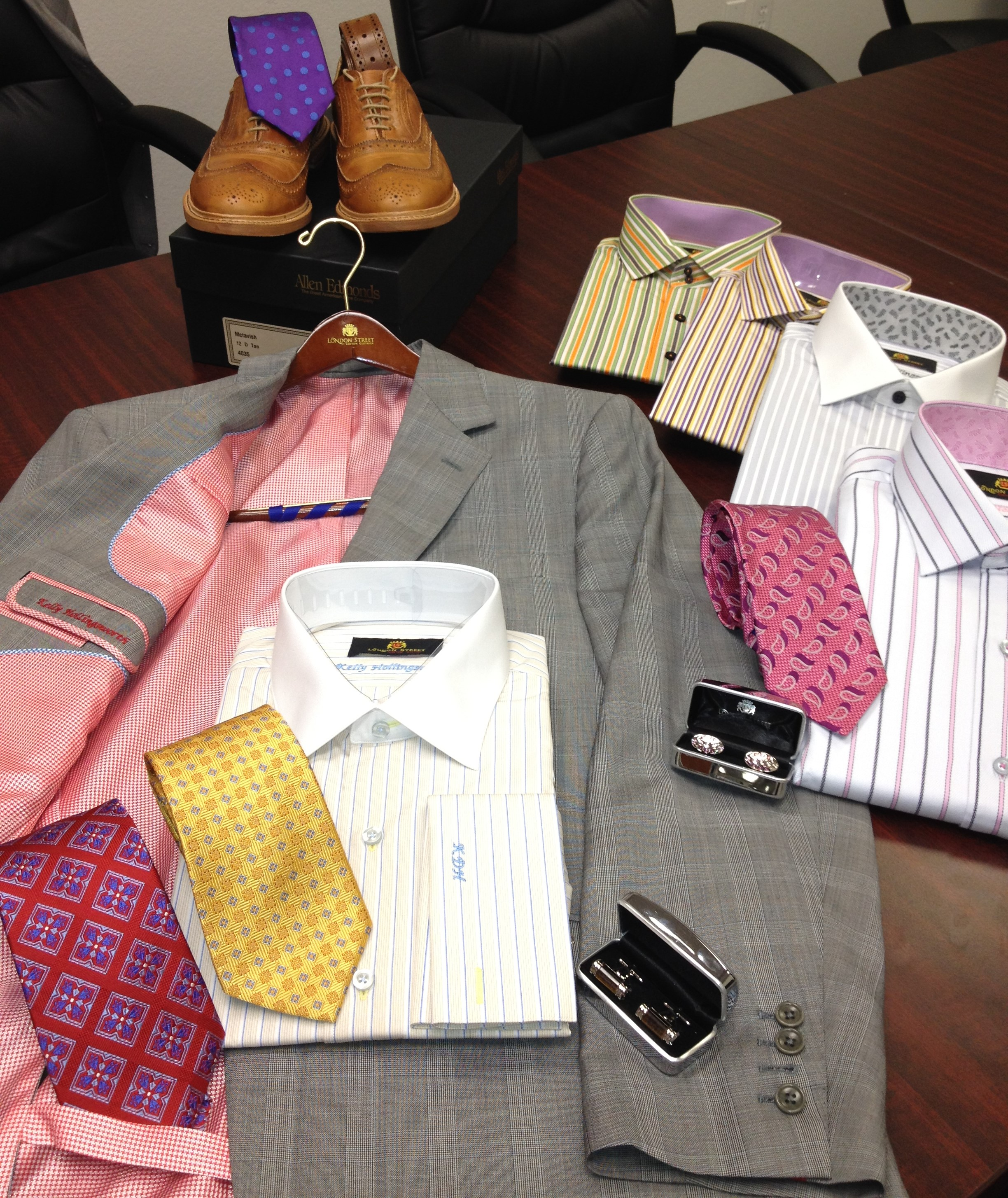 London Street delivers your handcrafted suits, shirts, and accessories to your home or office.