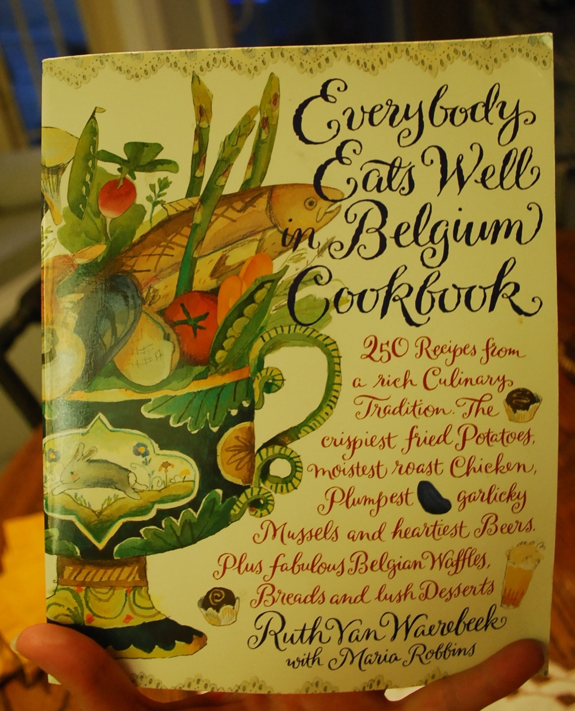 Everybody Eats Well in Belgium - This cookbook is pretty magical. Not only does it have delicious recipes, but Ruth Can Waerebeek offers great anecdotes and stories about tradition, history, and cooking tips that are interesting and at times invaluable.I highly recommend it! Or you can check out her newer cookbook The Taste of Belgium which I am thinking about exploring myself, as it is filled with beautiful pictures and new stories too!