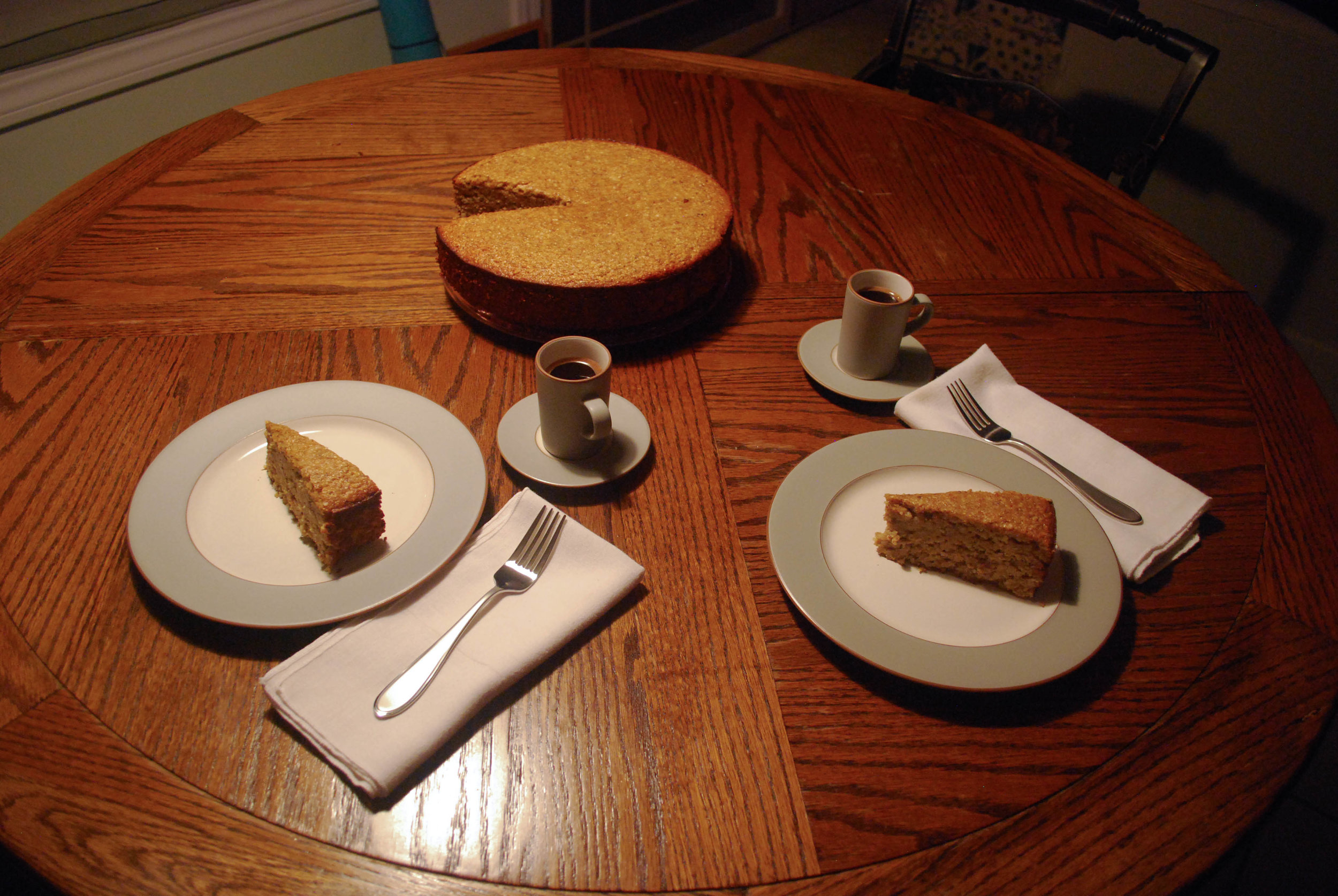 Apricot Almond Cake and Coffee