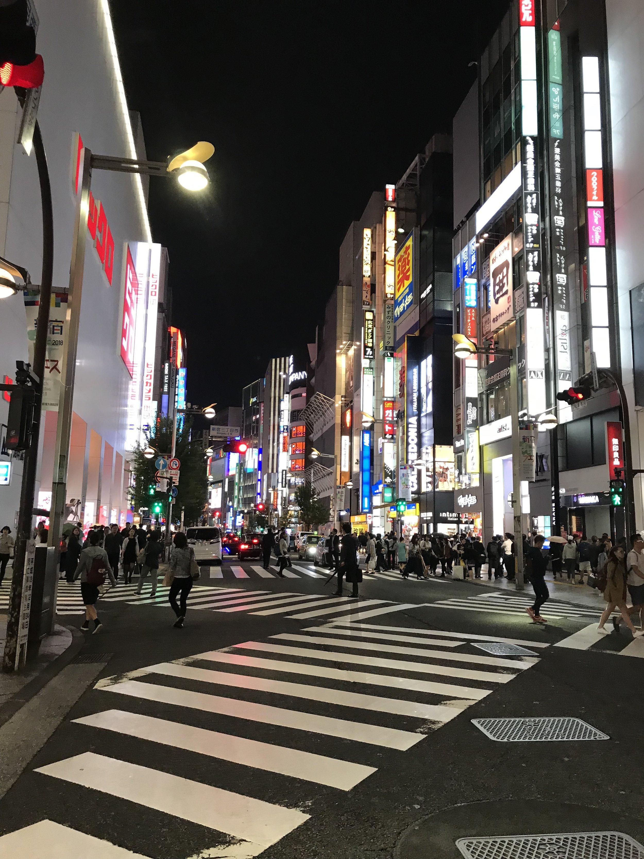 Bright Lights of Shinjuku, Tokyo