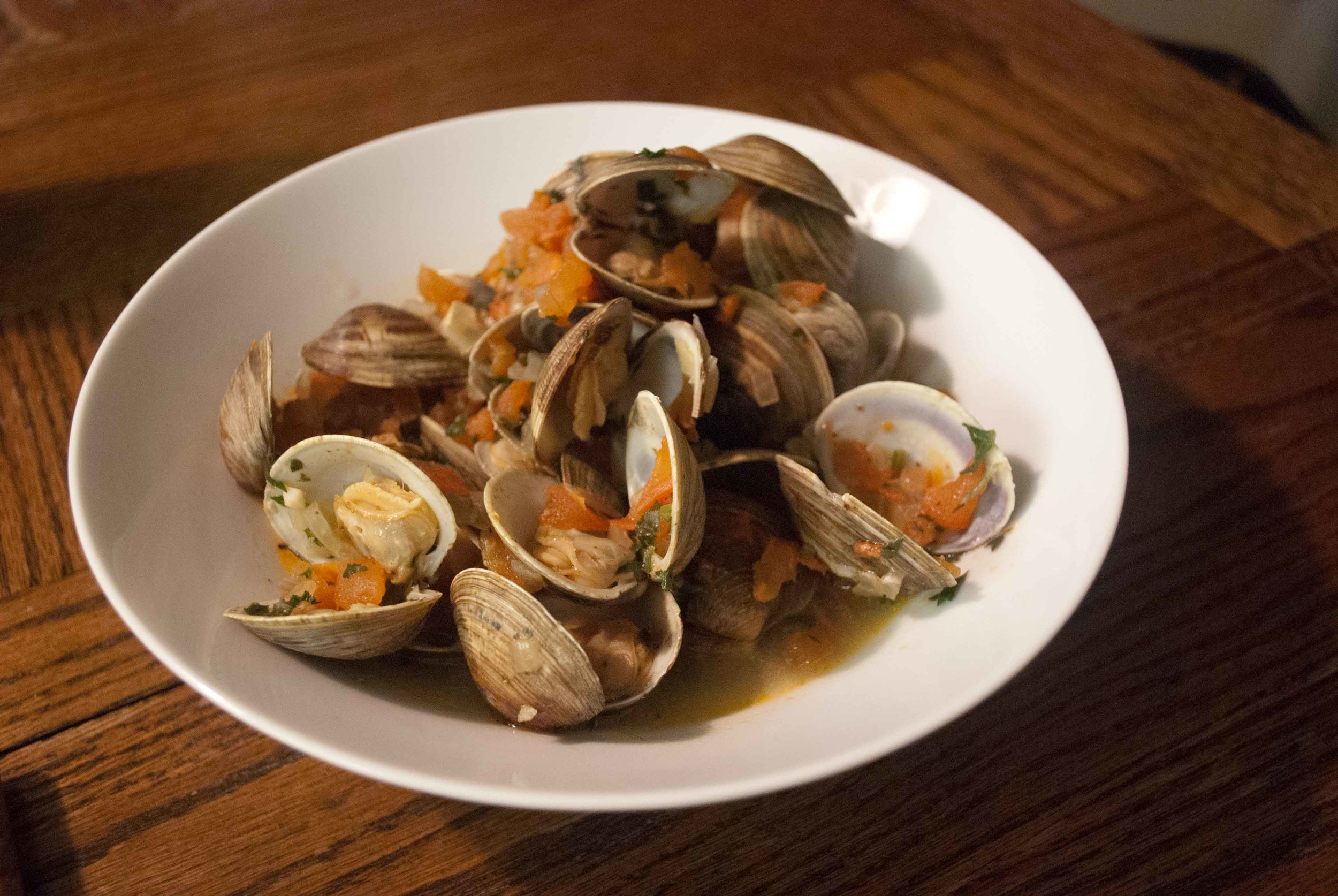 Clams with White Wine
