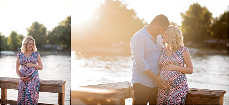 maternity session at the lake