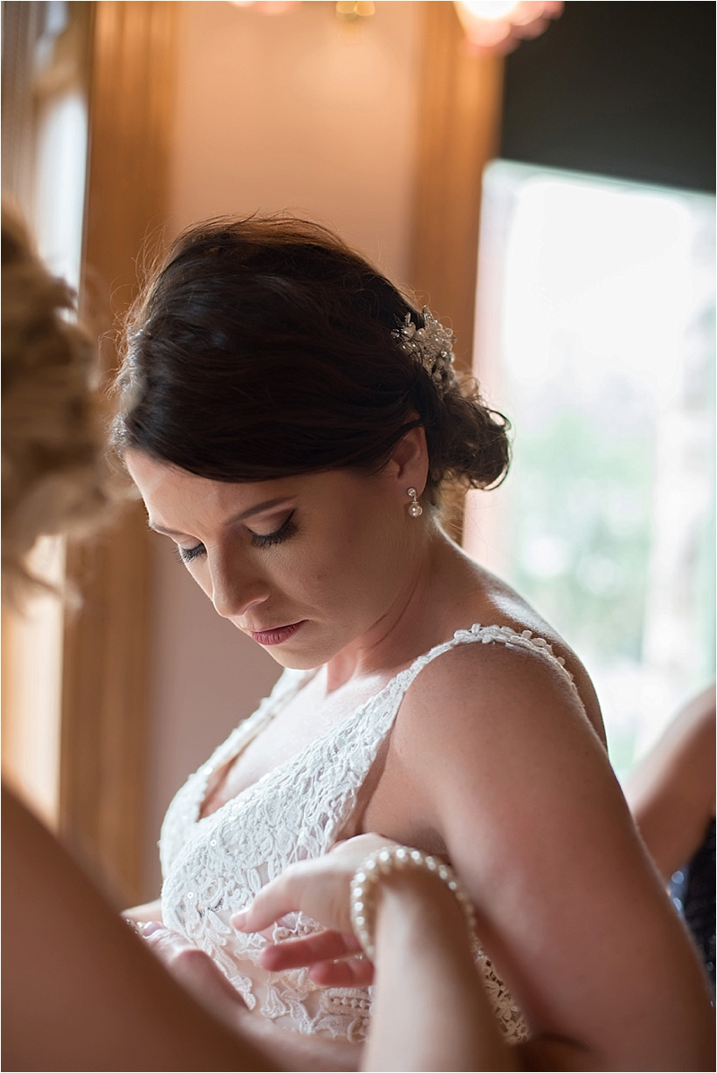 bride updo with hair clip