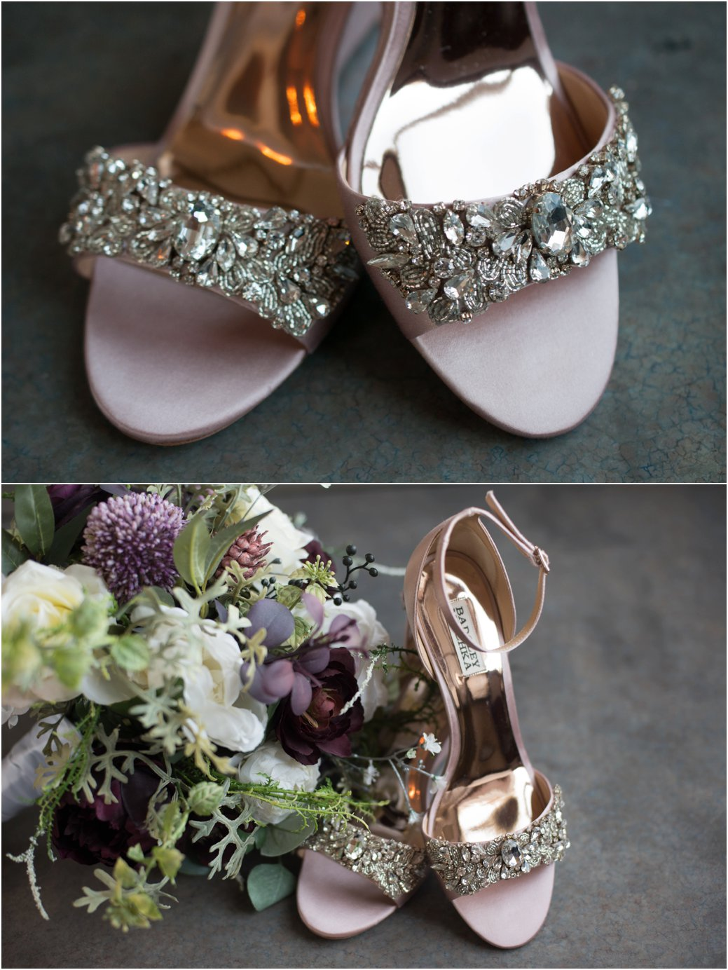 blush pink badgley mischka wedding sandals