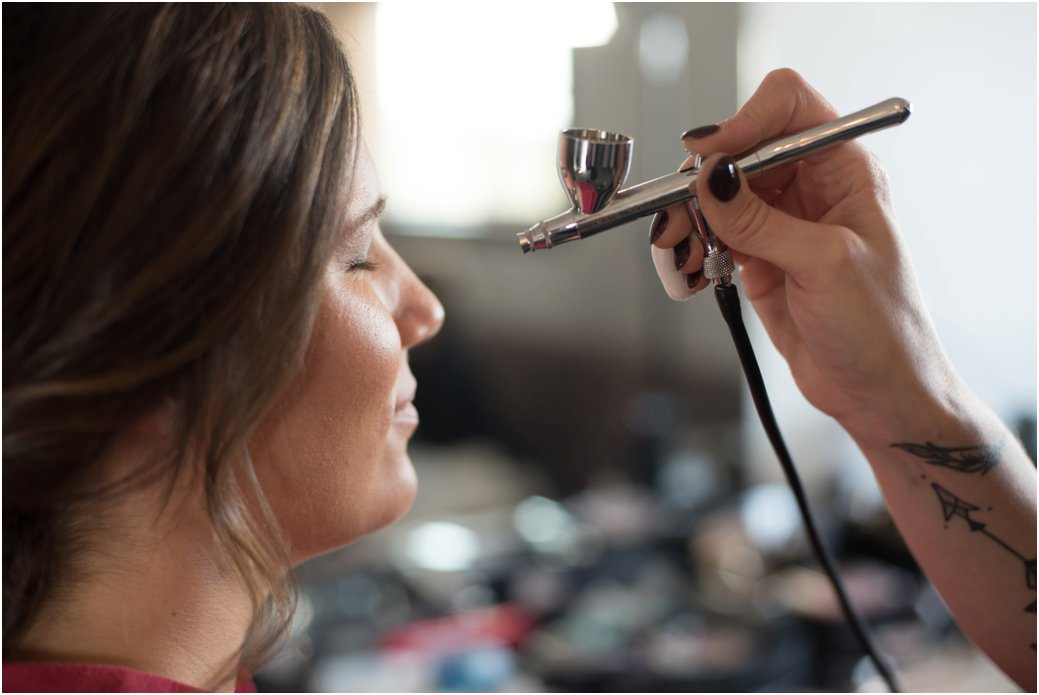 airbrush makeup by professional makeup artist