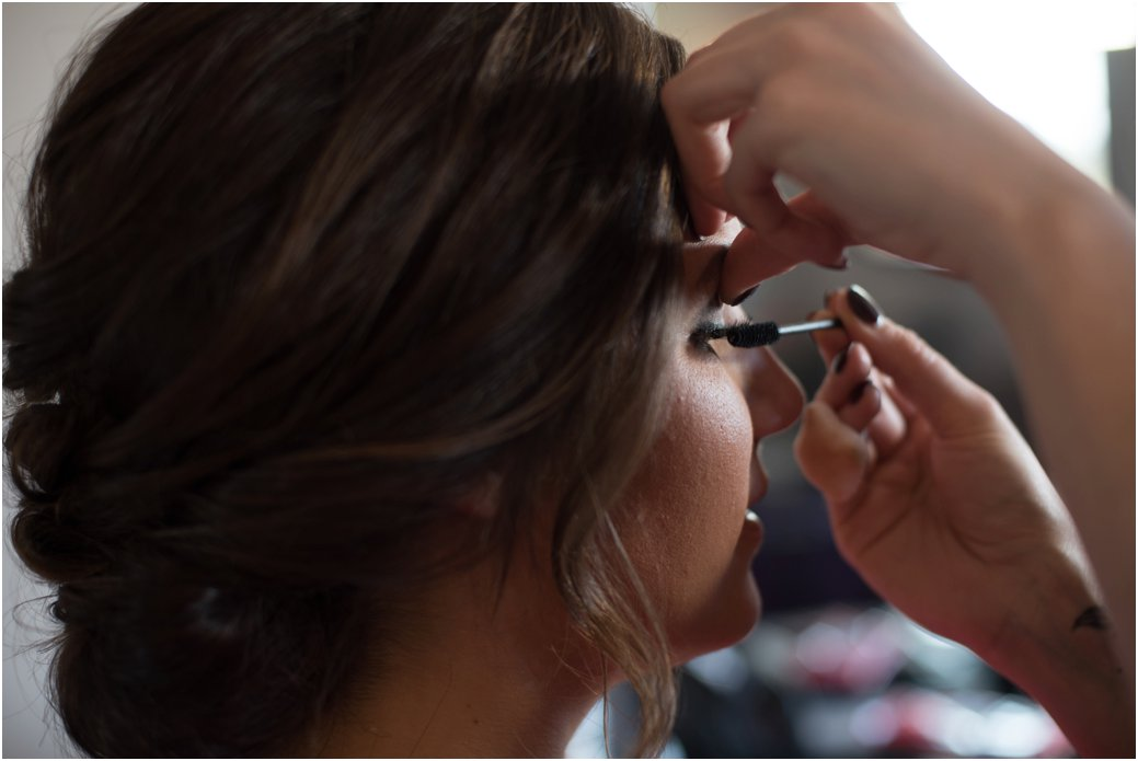 professional makeup on wedding day