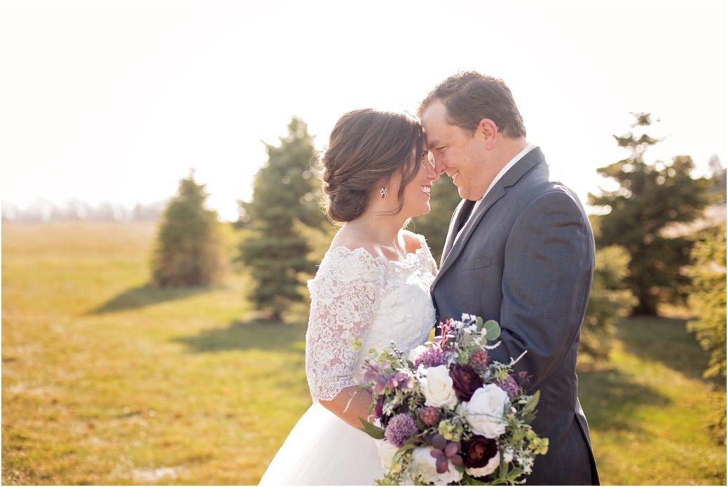 romantic bridal portraits outdoors