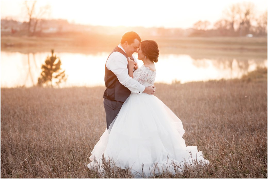 dancing at sunset on wedding day