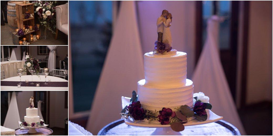 fresh glam plum wedding reception decorations