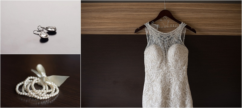 racerback lace wedding gown with pearl and diamond accents