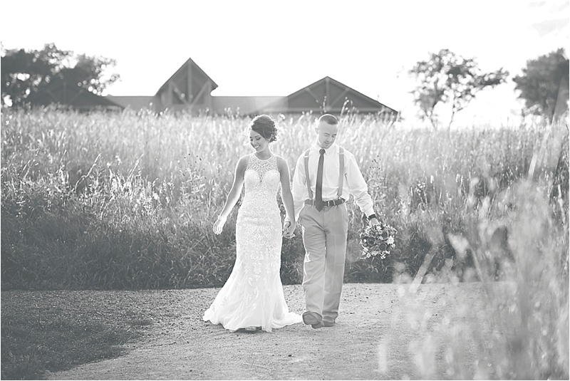 bride and groom walking picture