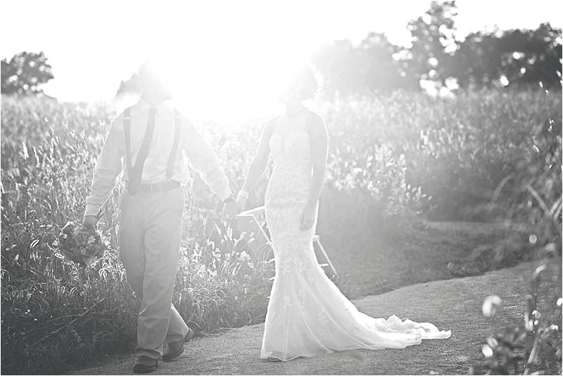 sunset bridal portraits