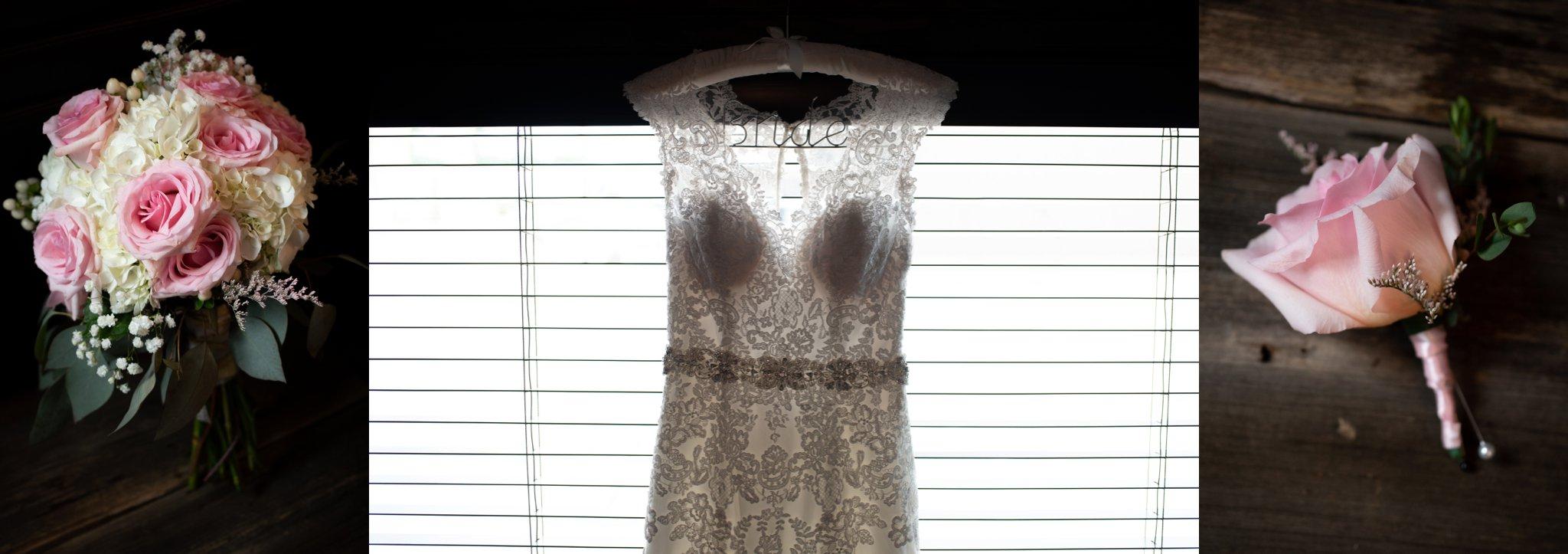 lace v neck wedding dress with rhinestone belt