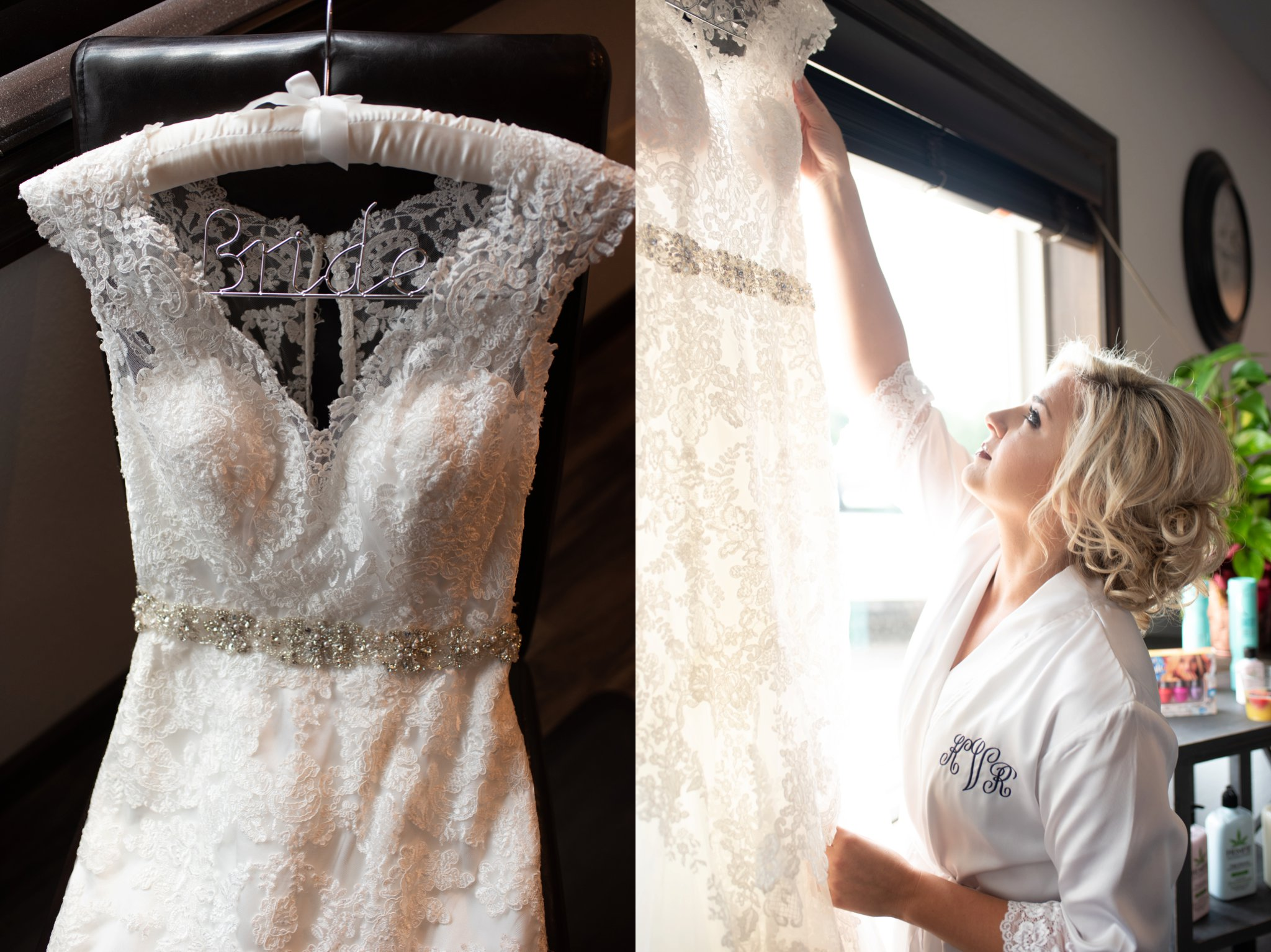 trumpet silhouette full lace wedding dress with v neck