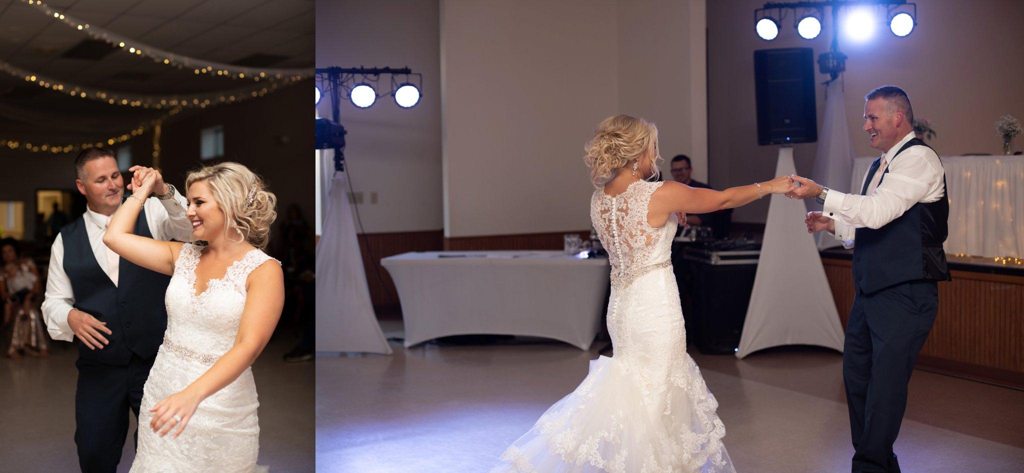 daddy daughter dance at wedding reception