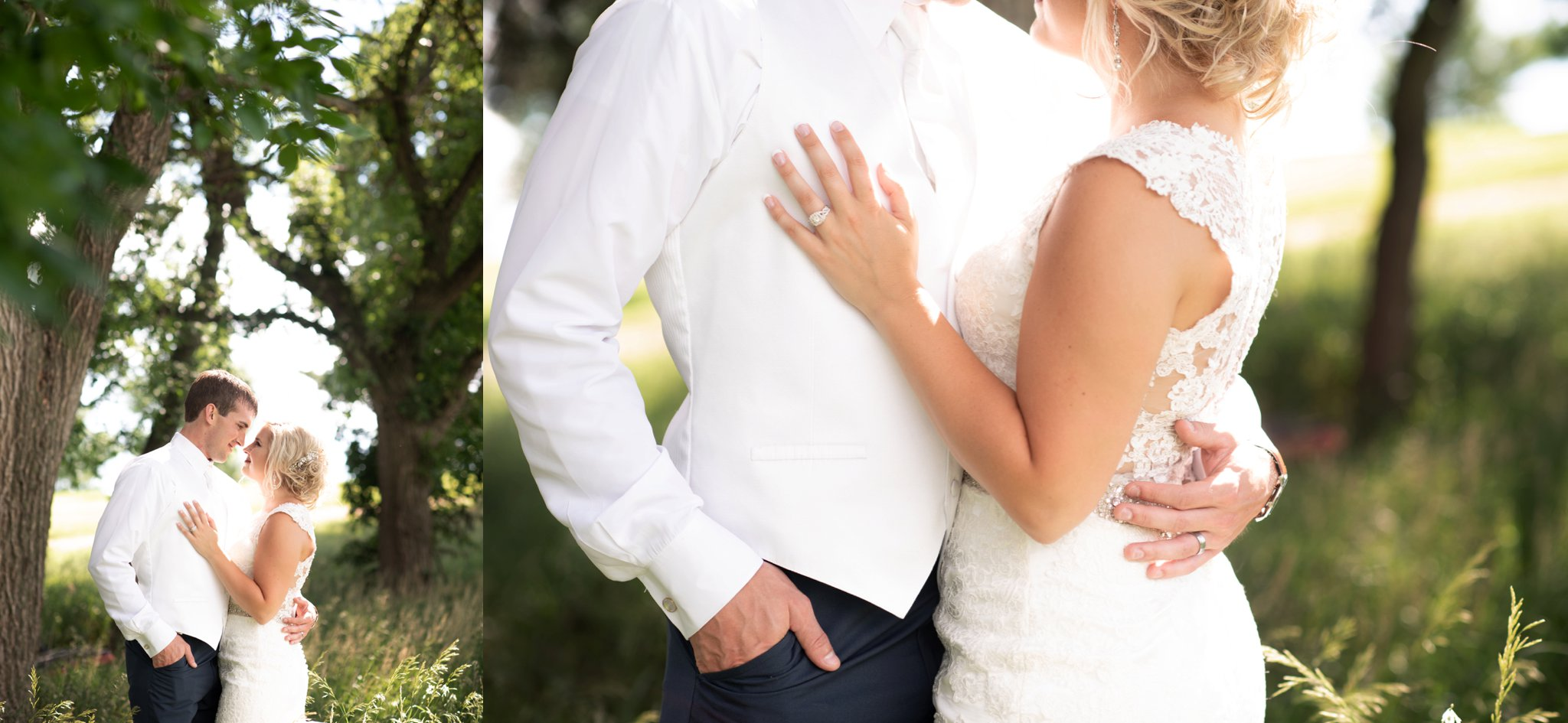 romantic bride and groom session