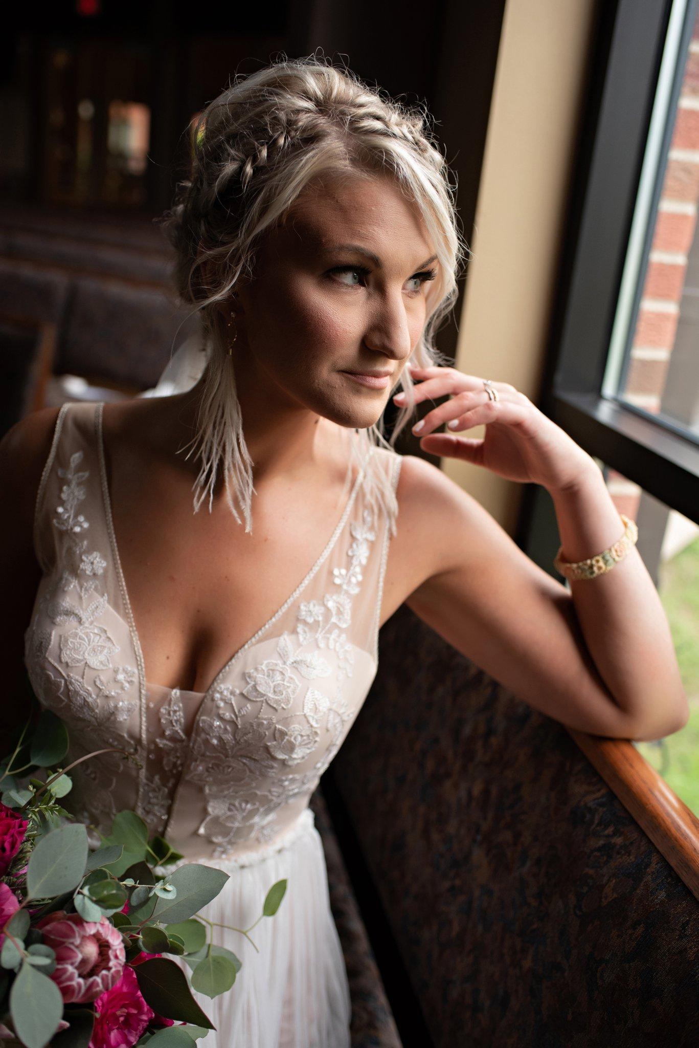 vneck dress for boho bride