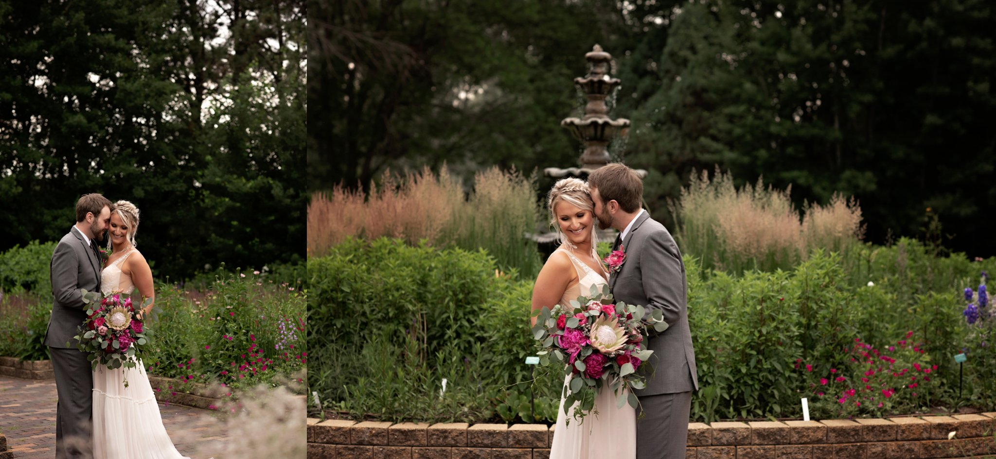 wedding portraits at mccrory gardens