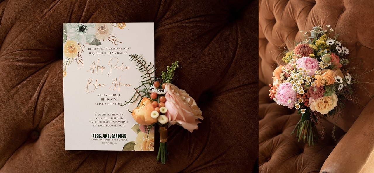 vintage floral wedding invitation suite