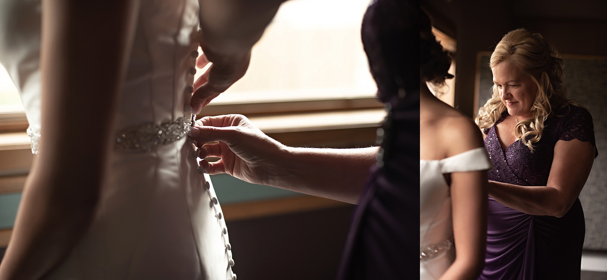 button down fitted wedding dress