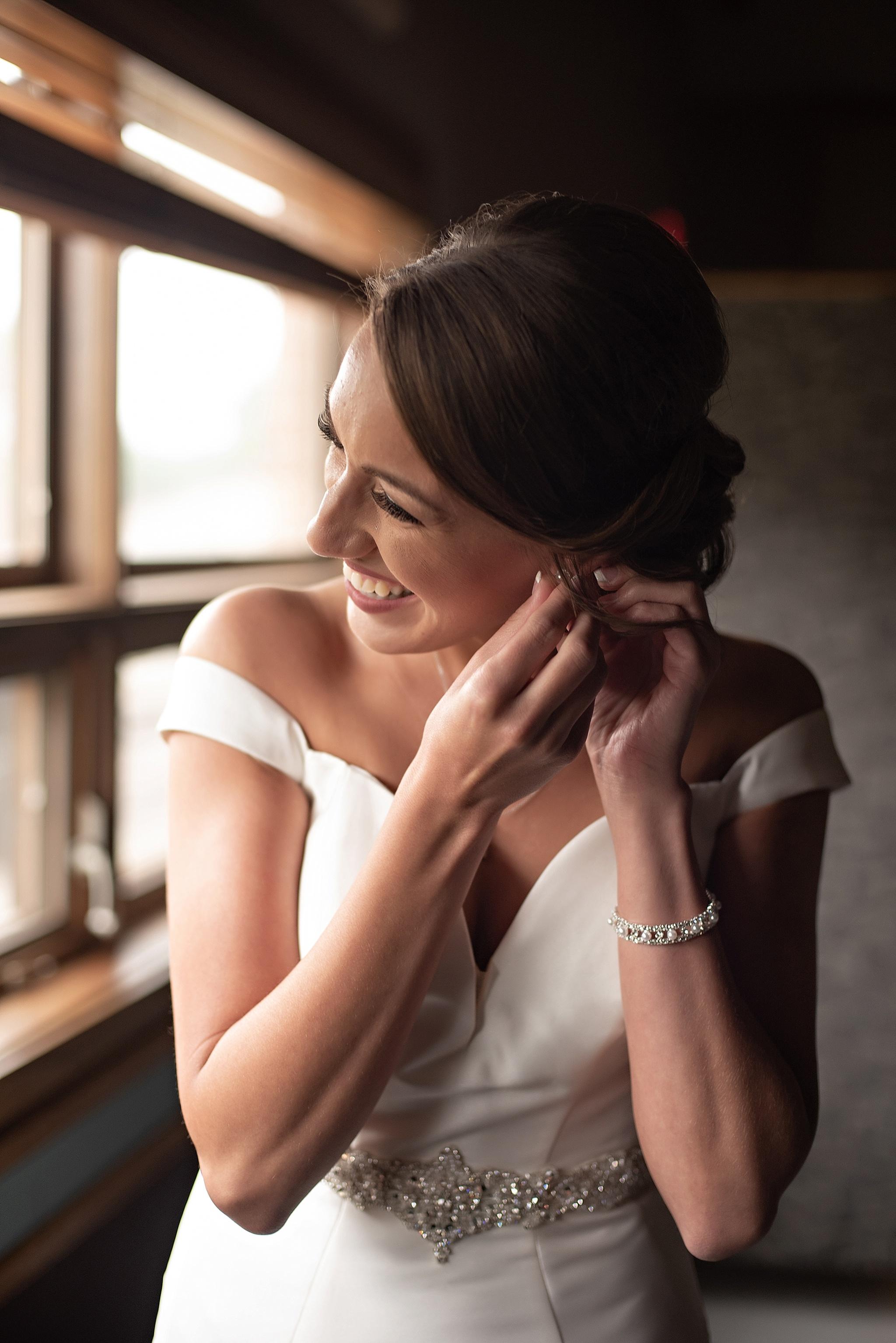 pearl bride earrings