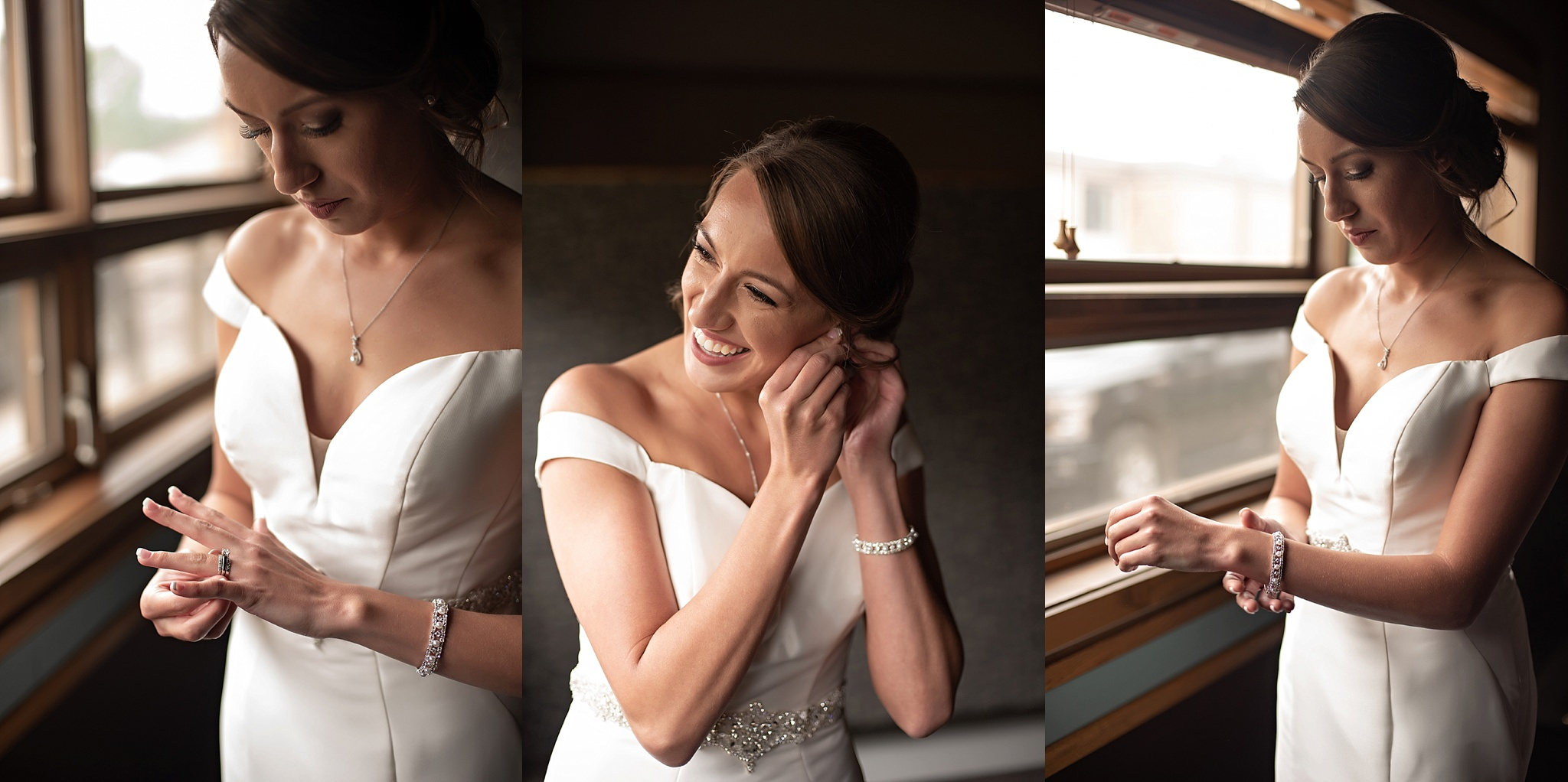 bride gets ready before ceremony