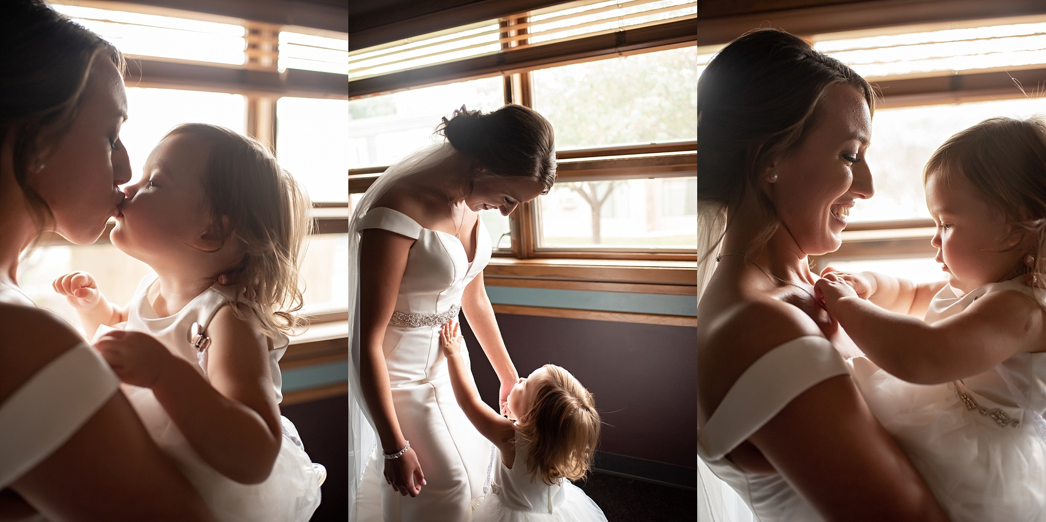 mother daughter wedding day portrait