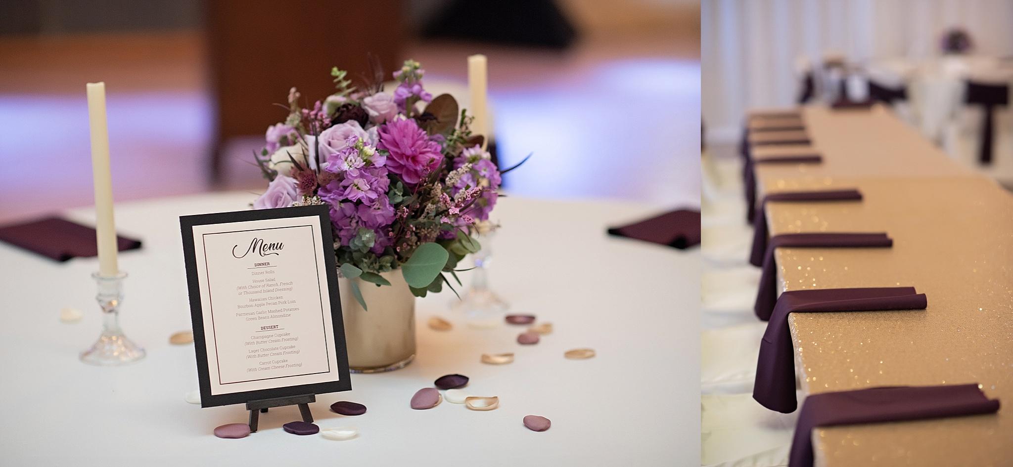plum wedding day