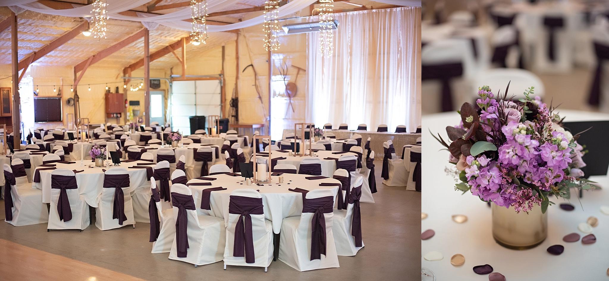 intimate wedding reception barn