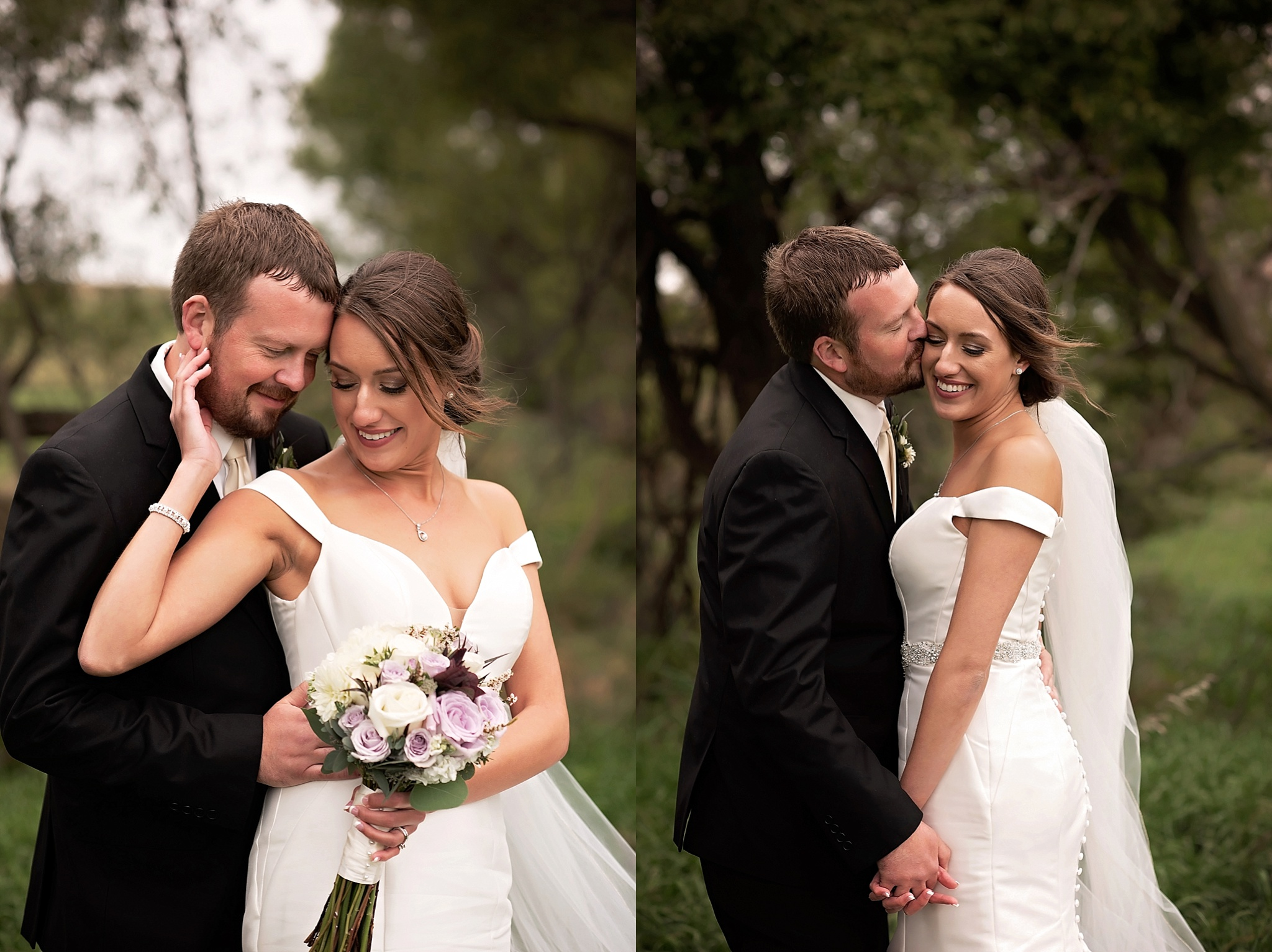 intimate outdoor bridal portraits