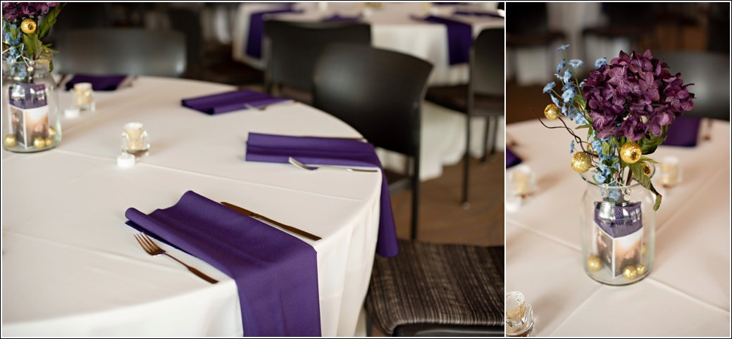 lilac purple wedding reception details