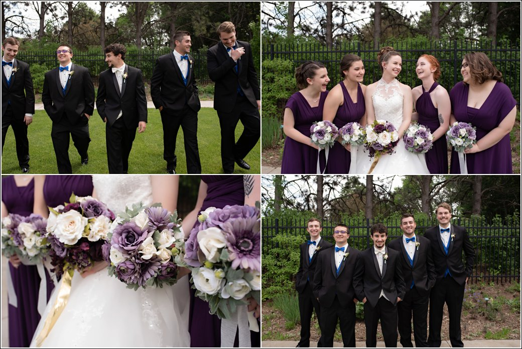 eggplant purple and royal blue bridal party colors