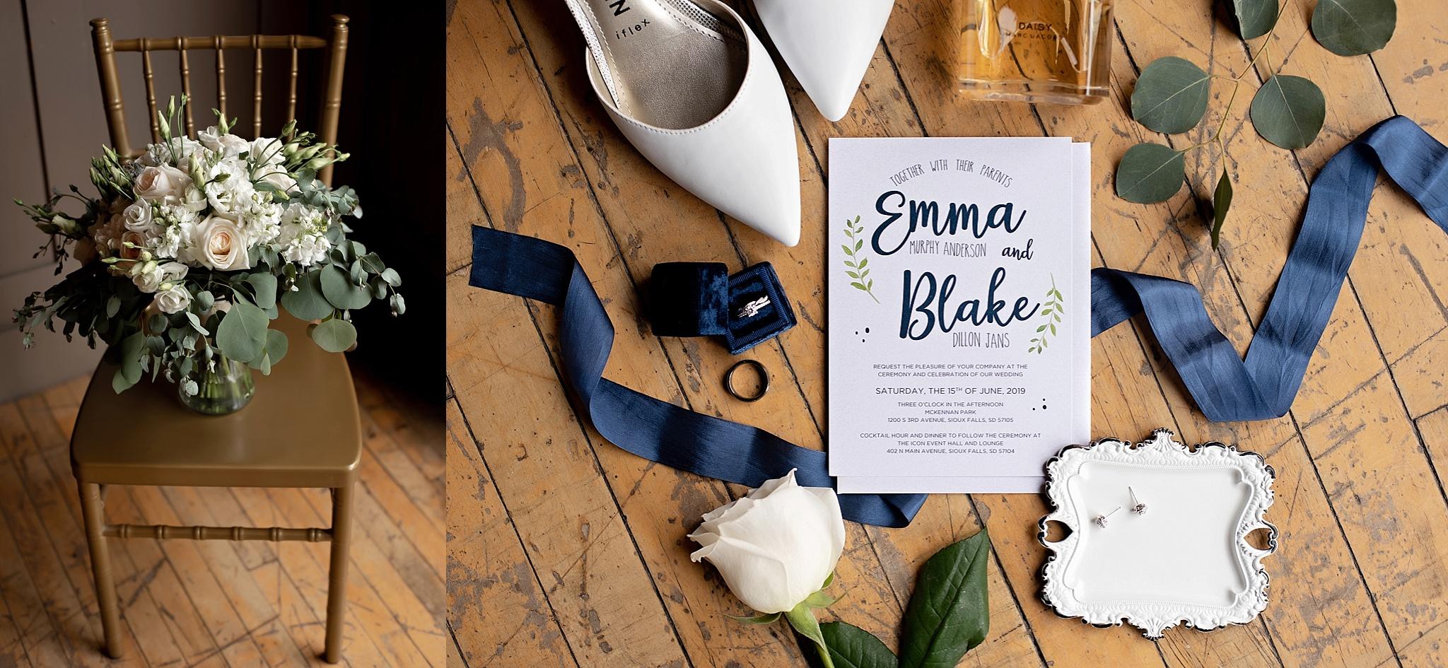 custom navy and greenery wedding invitations kate jones studios