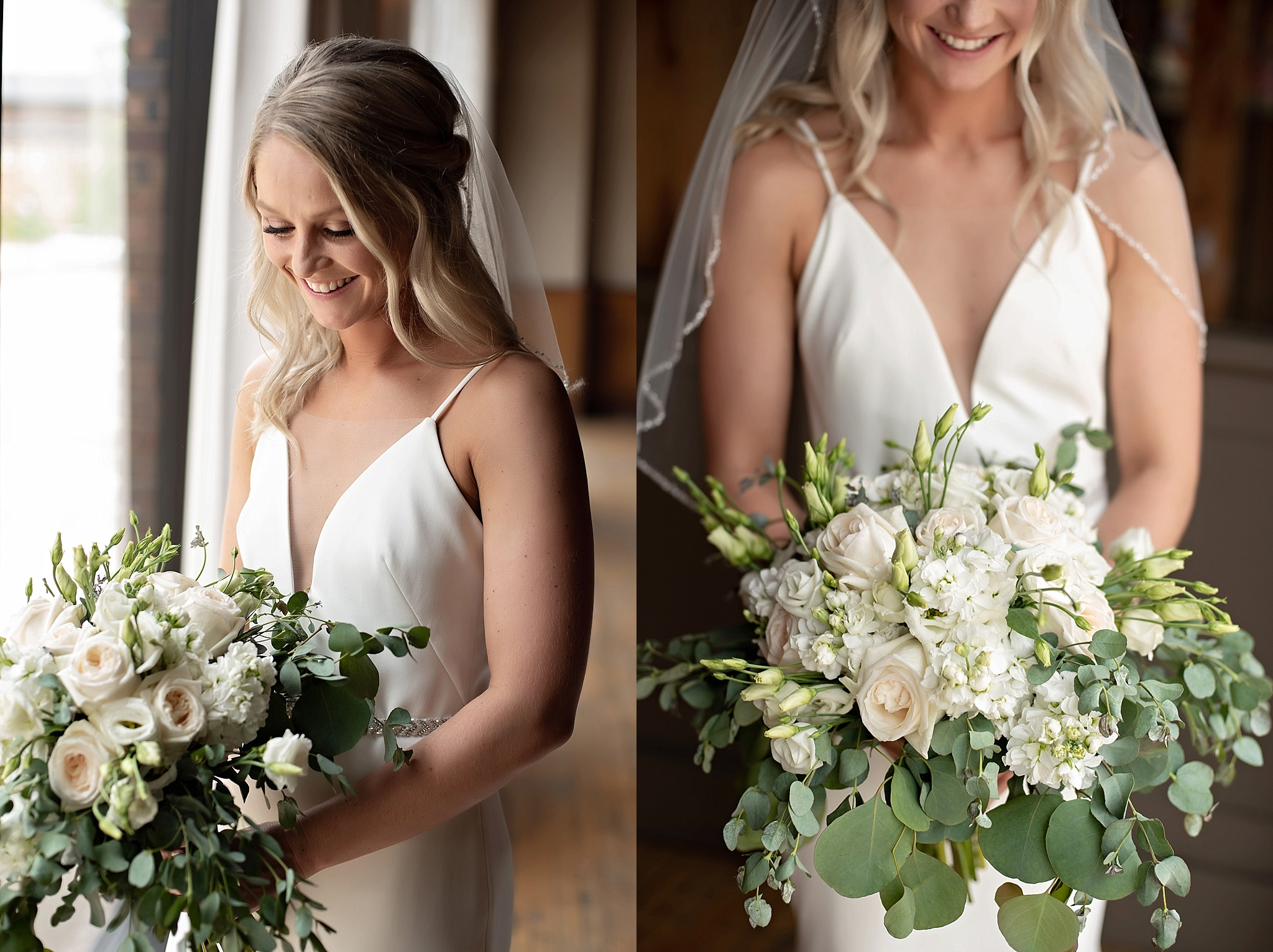 the flower mill bridal bouquet with simple white florals