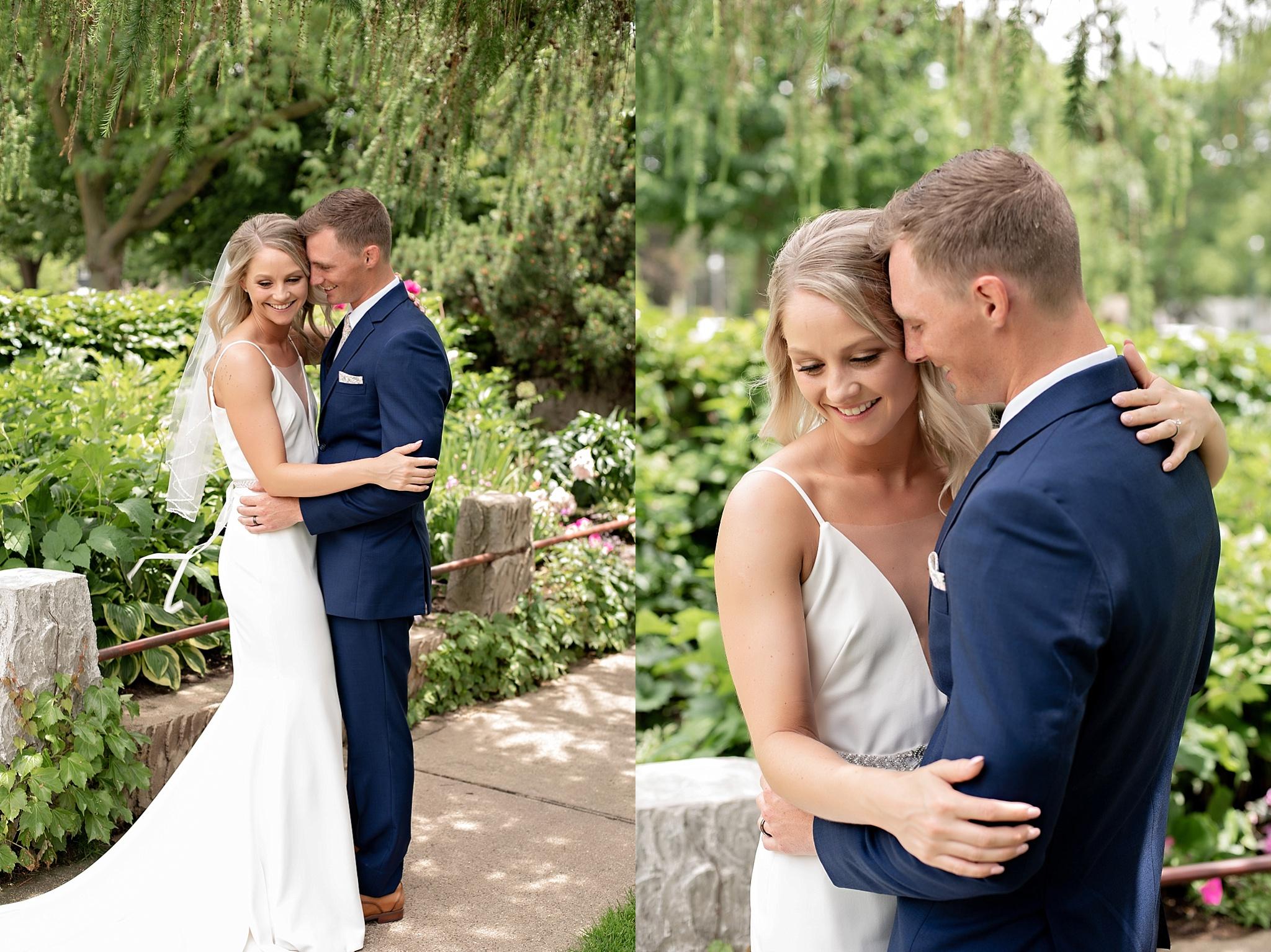 bride and groom portraits sioux falls sd kate jones studios mckennan park