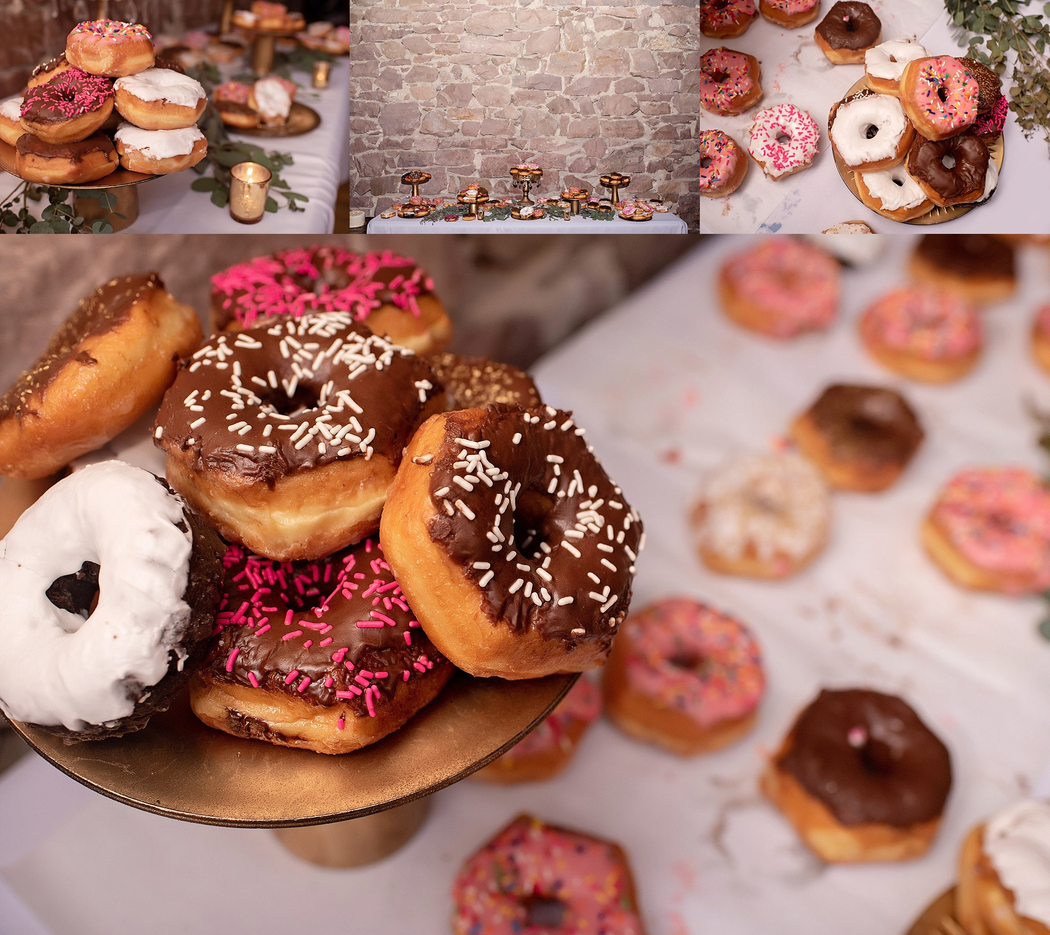 wedding reception dessert flyboy donuts sioux falls