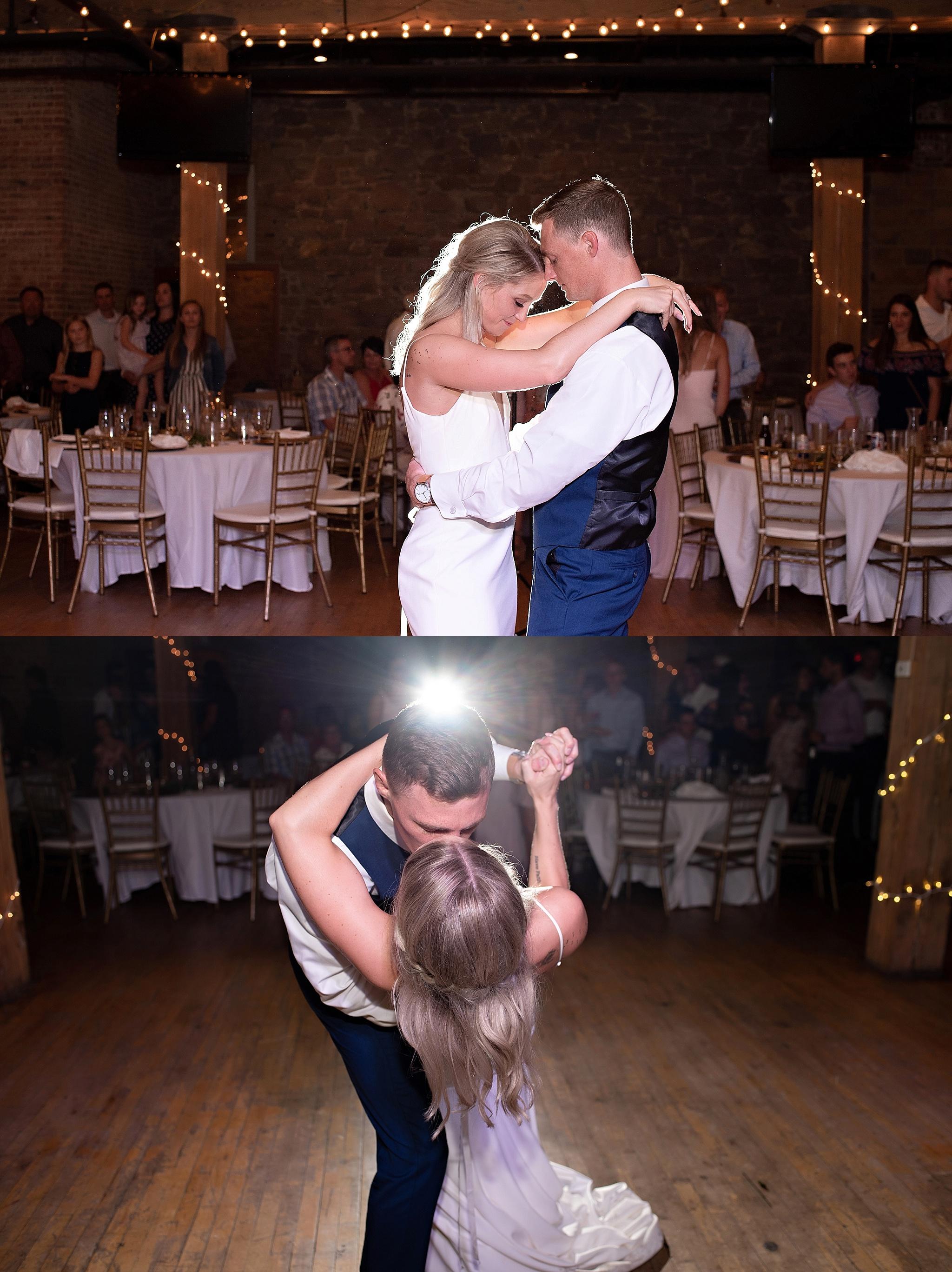 backlit first dance